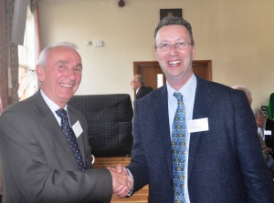 John Mills (l), Devon Historic Churches Trust the new Chairman of the Historic Churches Liaison Group with Tim Bridges, the outgoing Chairman